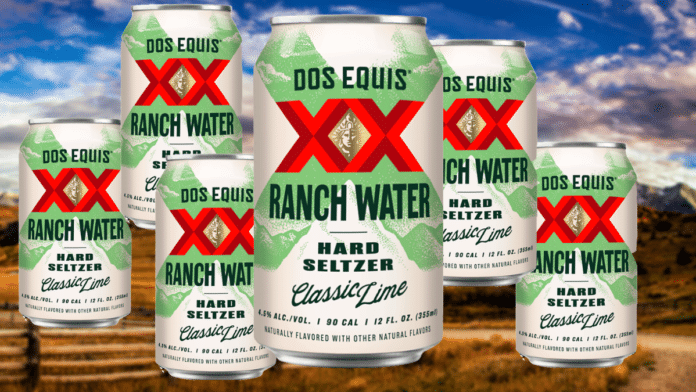 Dos Equis Ranch Water Hard Seltzer Cans