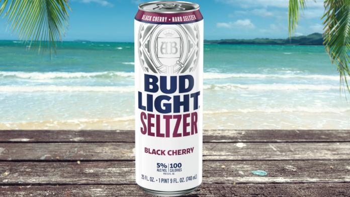 bud light seltzer at the beach