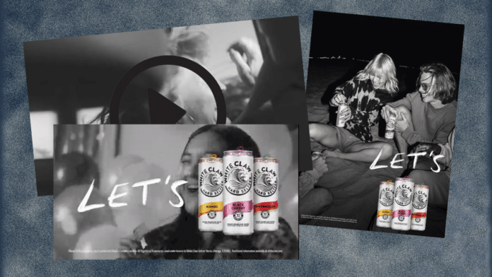 Let's White Claw campaign