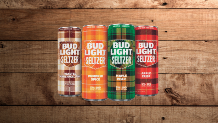 Bud light seltzer fall flavors in cans